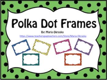 Free Polka Dot Frames