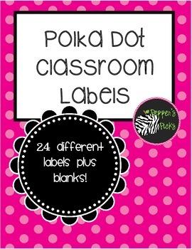 Free Polka Dot Labels (Printable)