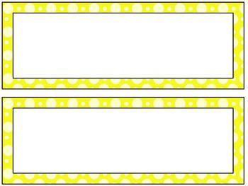 Free Polka Dot Name Tags