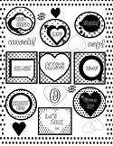 Free! Pop Art Heart Words - 1 page