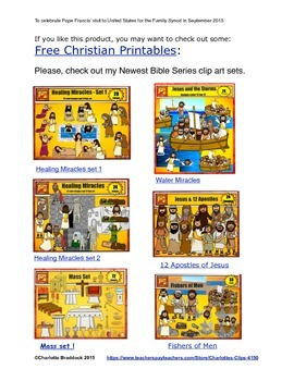Free Pope Francis Printable from Charlotte's Clips