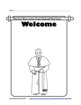 Free Pope Francis Printable too from Charlotte's Clips