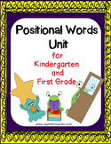 Positional Word Activities for Kindergarten and Pre K