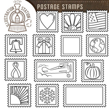 FREE Postage Stamps Clip Art