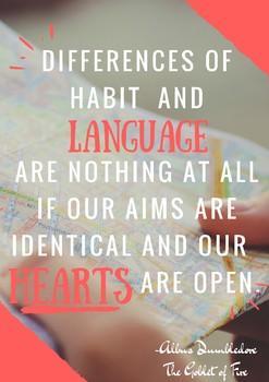 Free Poster: Albus Dumbledore habits and languages quotes