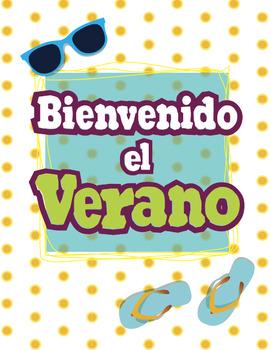 Free Poster Bienvenido el Verano