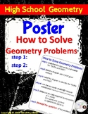 HS Geometry Poster : How To Solve Geometry Problems