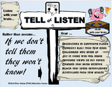 ! Free Poster and Listening Task - Build on What They Know