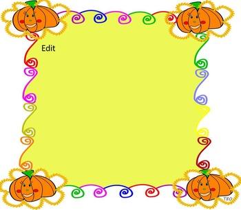 Pumpkins -  Halloween - Fall - Editable PowerPoint  template