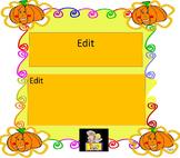 Halloween  Pumpkins  Fall  Editable PowerPoint  template