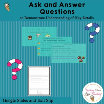 Asking and Answering Questions | Distance Learning | Free PowerPoint Lesson