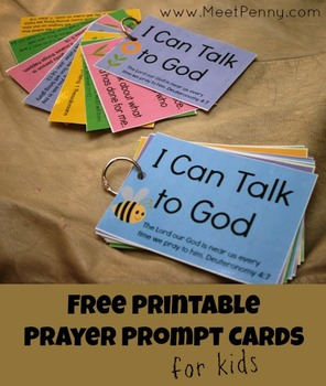 Free Prayer Prompt Cards for Boys