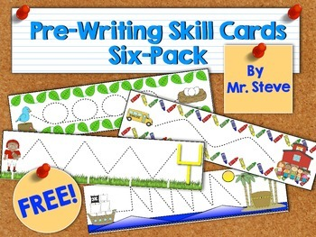 Free Pre-Writing Skill Cards