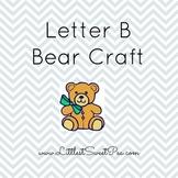 Free Preschool Letter Craft- Letter B