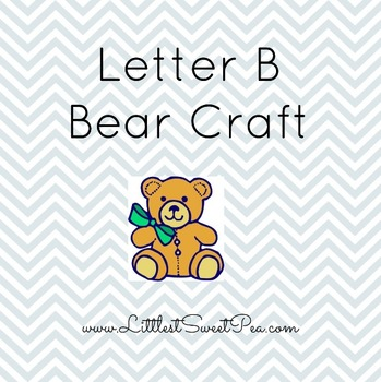 Free Preschool Letter Craft- Letter B