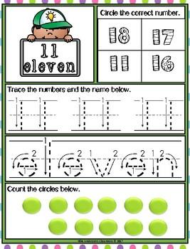 Free Preschool Prep Counting 0-20