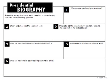 Free President's Day Handouts