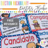 Free Presidential Election 2020 Vocabulary Posters