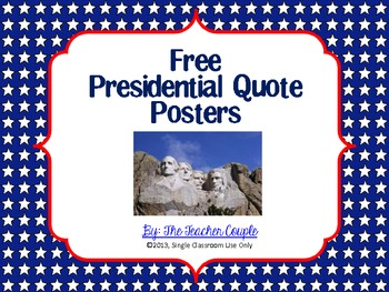 Free Presidential Quote Posters
