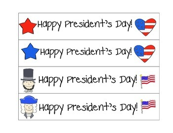 Free President's Day Bookmarks