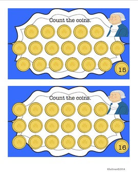 Free Downloads President's Day Math Task Cards! Counting 1-20 Common Core