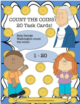 Free Downloads President's Day Math Task Cards! Counting 1