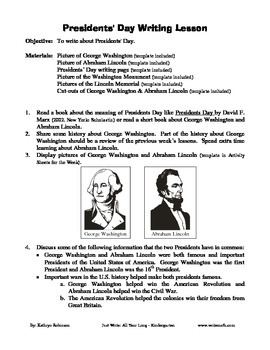 Free Presidents' Day Writing Activity and Templates