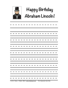 Free President's Day Writing Paper (Primary)