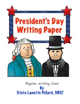 Free President's Day Writing Paper (Regular Ruled)