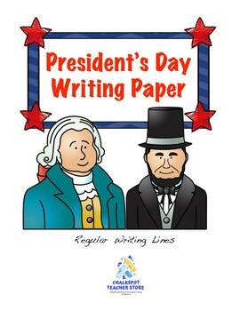 Free President's Day Writing Paper (Regular Ruled)