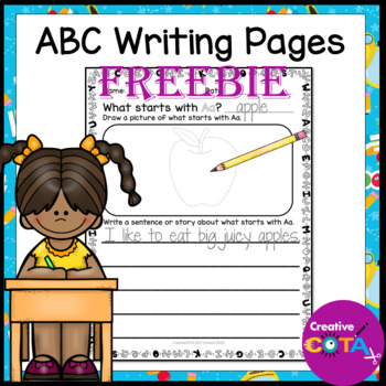 Free Preview ABC Writing No Prep Worksheets