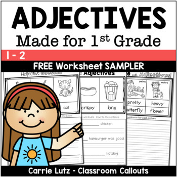 Free Adjectives Worksheets
