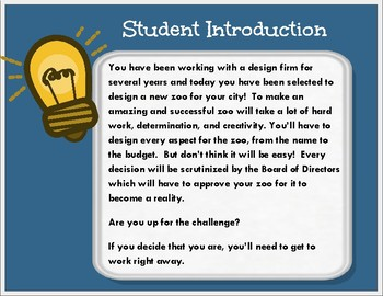 Free Preview Design a Zoo: A Digital Project Based Learning Experience