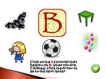 Free Preview Interactive Alphabet Practice Power Point Program