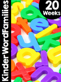 Free Preview! KinderWordFamilies™ Word Families Curriculum