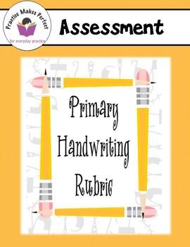 Free Primary Handwriting Rubric