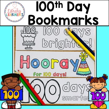 Free Printable 100th Day of School Bookmarks to Color