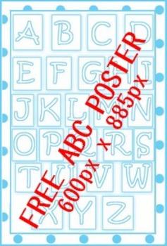 Free Printable ABC Poster