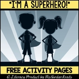 "Free Printable Activity - ""I'm a Superhero"""