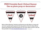 Free Printable Back to School Bunting Banner