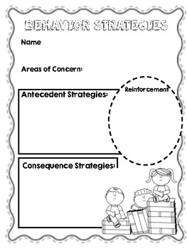 Free Printable  Behavior Strategies Cheat Sheet