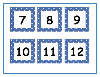 Free Printable Blue Polka-Dot Calendar Cards
