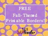 Free Printable Bulletin Board Borders for Fall