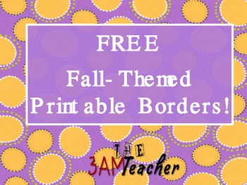 Free Printable Bulletin Board Borders for Fall