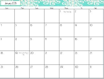 Free Printable Calendar December 2014-December 2015 & Includes Holidays
