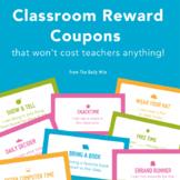 Free Printable Classroom Reward Coupons (plus blank templates!)
