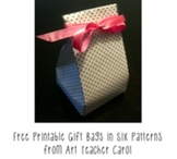 Free Printable Goody Bags in Six Patterns