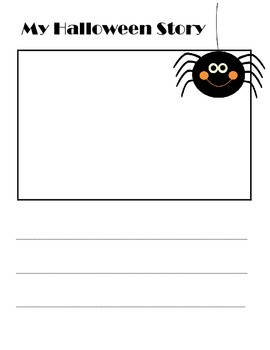 free printable halloween writing paper for kindergarten - Printable Halloween Writing Paper