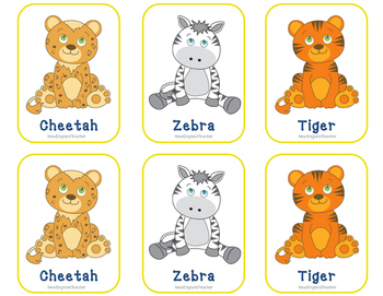 Free Printable Jungle Matching Cards & Memory Game