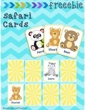 Free Printable Jungle Matching Cards & Memory Game